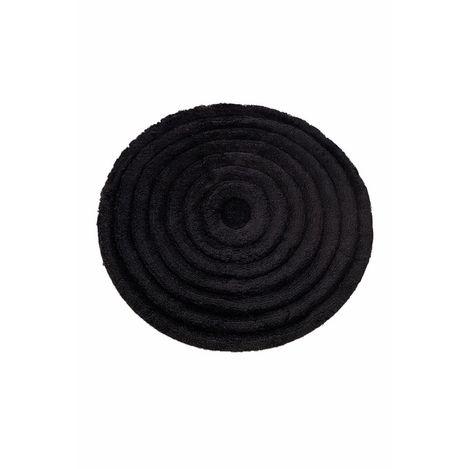 Chilai Home Round Banyo Halısı (Siyah) - 90x90 cm