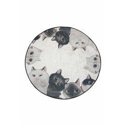 Chilai Home Home Angry Cats Banyo Halısı - 100x100 cm