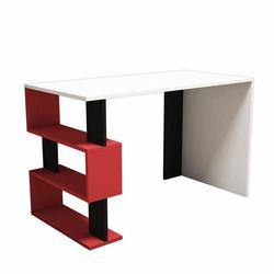Minar Snap Mini Çalışma Masası  - Beyaz / Kırmızı / Siyah