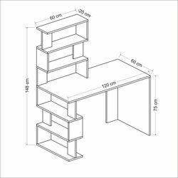 Minar Snap Maxi Çalışma Masası  - Beyaz / Çırağan / Siyah