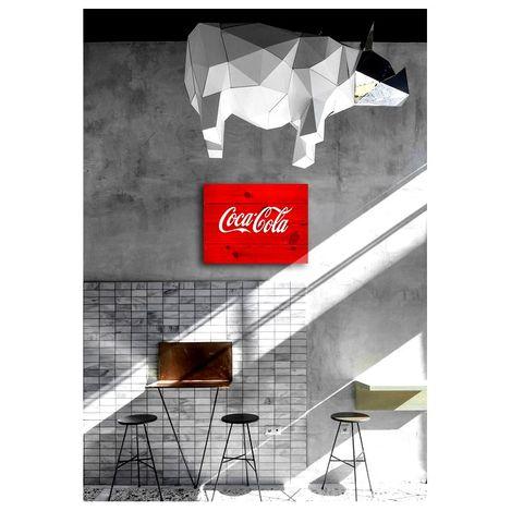 Resim  Oldwooddesign OLD005 Retro Coca Cola Tablo - 60x40 cm