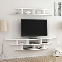 House Line Alvino Duvara Monte Tv Ünitesi - Tv Sehpası - Beyaz