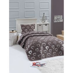 Eponj Home Amaour Tek Kişilik Yatak Örtüsü Takımı - Kahverengi