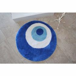 Chilai Home Nazar Boncuğu Banyo Halısı (90x90 cm) - Mavi