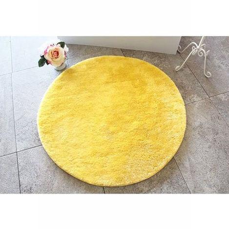 Resim  Chilai Home Colors Of Banyo Halısı (Sarı) - 90x90 cm