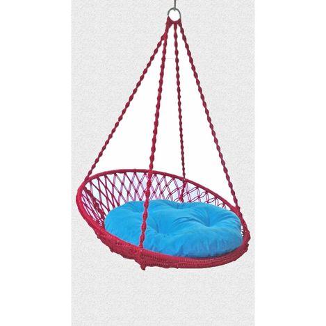 Resim  Altınoluk Relaks Salıncak Kırmızı ( Mavi Minderli )