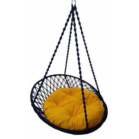 Resim  Altınoluk Relaks Salıncak Lacivert ( Sarı Minderli )