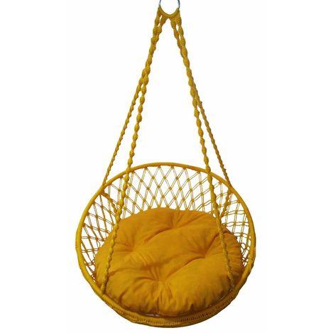 Resim  Altınoluk Relaks Salıncak Sarı ( Sarı Minderli )