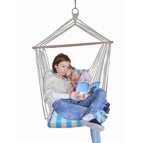 Altınoluk Sandalye Salıncak ( Mavi Beyaz )