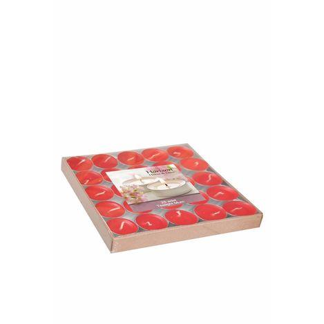Horizon Tealight Mum (Kırmızı/Beyaz) - 25'li Paket