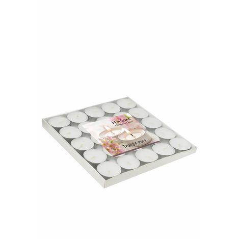 Horizon Tealight Mum (Beyaz) - 25'li Paket