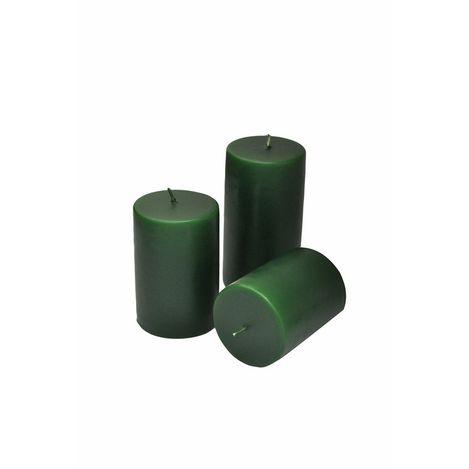 Horizon Silindir Mum (Yeşil) - 7x8 cm