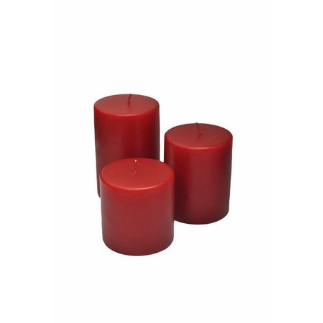 Horizon Silindir Mum (Kırmızı) - 7x10 cm