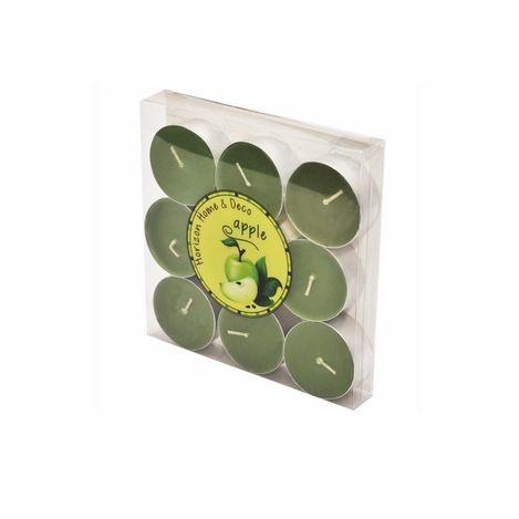 Horizon 9'lu Tealight Mum - Yeşil