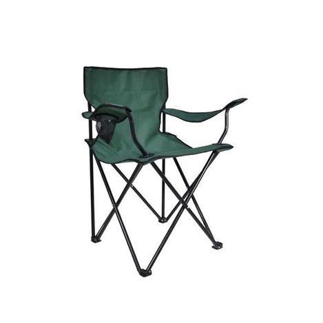 Resim  Just Home Katlanır Kamp Sandalyesi - Yeşil