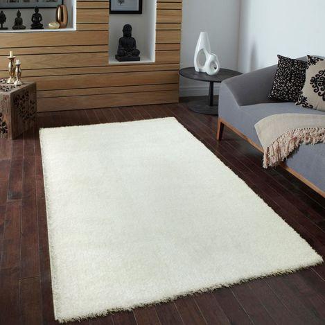 Payidar Beyaz Shaggy Halı 9000NM 160x160 cm Daire
