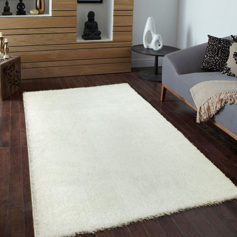 Payidar Beyaz Shaggy Halı 9000NM 120x120 cm Daire