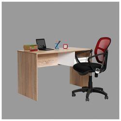 Adore Concept Kilitli Çekmeceli Çalışma Masası - Sonoma - Beyaz
