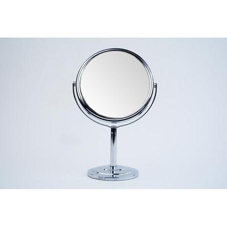 Alemdar ALM73567 Metal Çerçeveli Ayaklı Ayna Gümüş