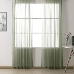 Premier Home Düz Tül Perde (Yeşil) - 300x260 cm