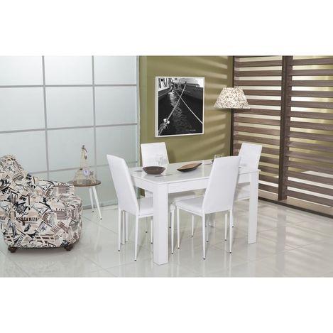 Mobetto Carnaval Masa Sandalye Seti - Beyaz