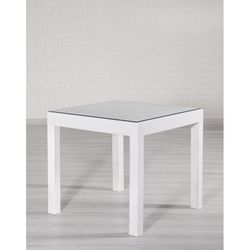 Mobetto Rattan Camlı Masa – Beyaz
