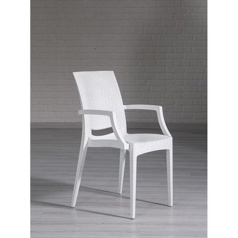 Mobetto Rattan Lüks Sandalye – Beyaz