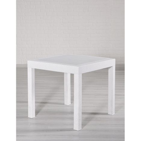 Resim  Mobetto Rattan Masa – Beyaz