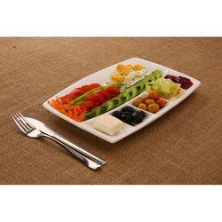 Colours in Kitchen 6 Bölmeli Seramik Kahvaltı Tabağı - Beyaz