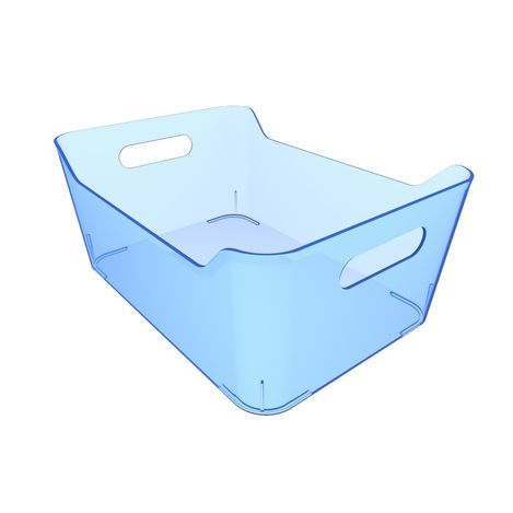 Q-Fridge Basket Transparent Blue Buzdolabı Sepeti