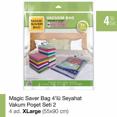 Resim  Magic Saver Bag 4'lü Seyahat Seti 2