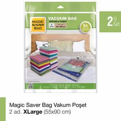 Magic Saver Bag 2'li XLarge Vakumlu Poşet Seti