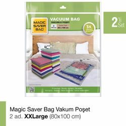 Magic Saver Bag 2'li XXLarge Vakumlu Poşet Seti