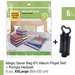 Magic Saver Bag 6'lı XXLarge Set - El Pompası Hediyeli