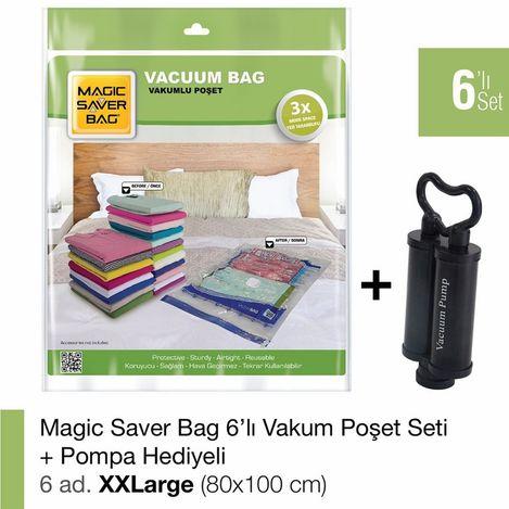 Resim  Magic Saver Bag 6'lı XXLarge Set - El Pompası Hediyeli
