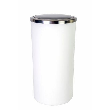 Primanova Lenox Çöp Kovası (Beyaz) - 35 Litre
