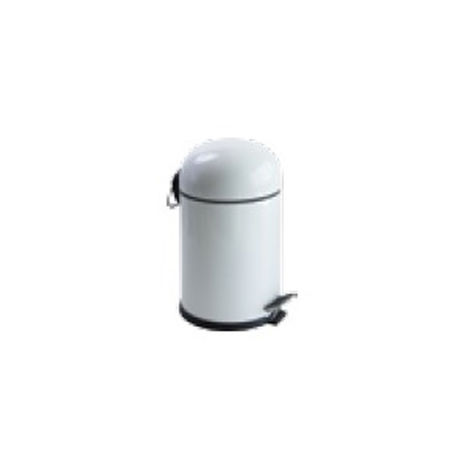 Dibanyo 545105BR-B Pedallı Banyo Çöp Kovası (Beyaz) - 5 Litre