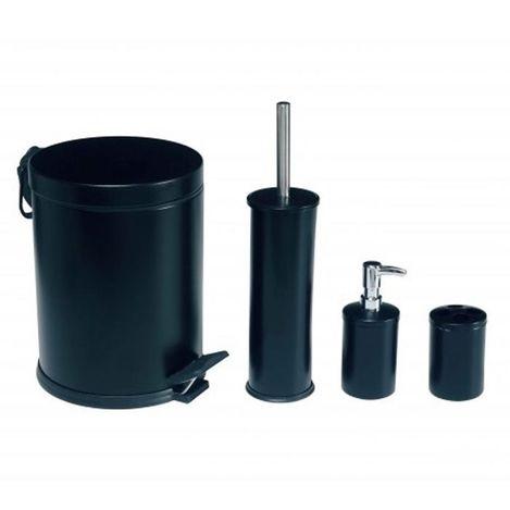 Dibanyo 4'lü Banyo Seti - Siyah