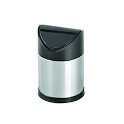 Dibanyo Sallanır Plastik Kapak Çöp Kovası - 3 Litre