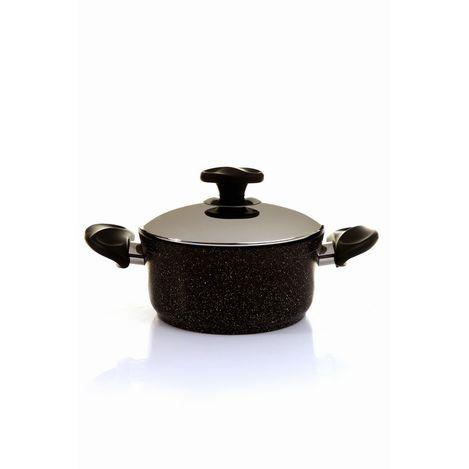 Papilla 18 cm Ezme Granit Tencere - Siyah