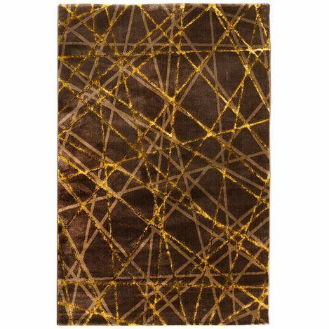 Resim  Payidar Gold G3167M Kahve / Gold 80x300 cm Işın Desen Modern Halı