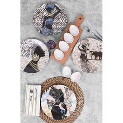Keramika 11 Parça 4 Kişilik Kahvaltı Seti - Afrikalı Kadınlar