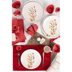 Keramika 28 Parça 6 Kişilik Kahvaltı Takımı - Sonbahar Tomurcuk