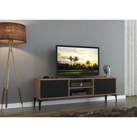 Resim  Just Home Fiera Tv Ünitesi - Siyah / Atlantik Çam