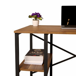 Just Home Athena Çalışma Masası - Siyah / Çam