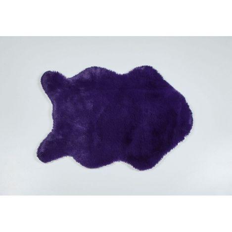 Just Home Tavşan Tüyü Post Halı (Mor) - 60x90 cm