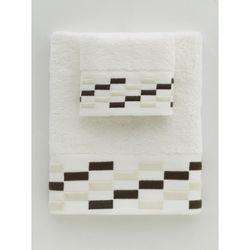 Towello Brick Nakışlı Havlu (Krem) - 50x90 cm
