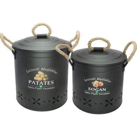 Evstyle 2'li Soğan Patates Kovası