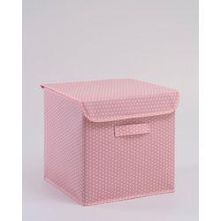 Ocean Home Puantiye Kapaklı Kutu (Pembe) - 30x30x30 cm