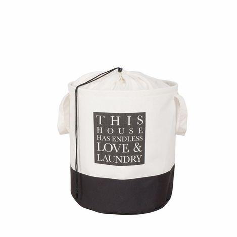 Ocean Home Baskılı Çok Amaçlı Sepet (Beyaz) - 36x40 cm